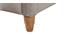 Bett gepolstert Stoff Beige 140 x 200 cm KRISTEN