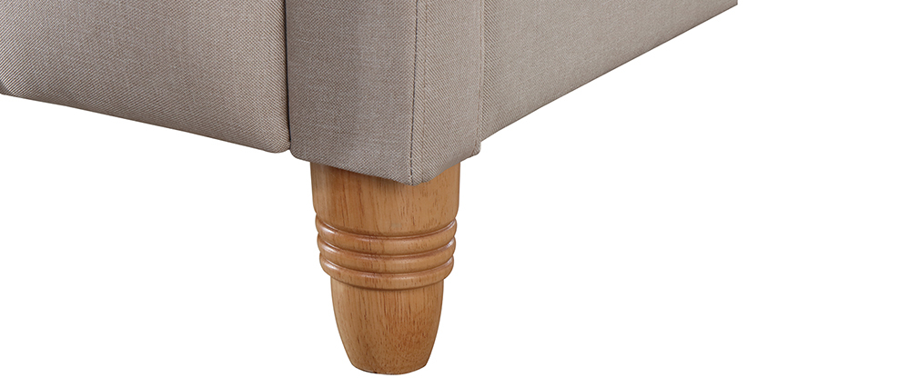Bett gepolstert Stoff Beige 160 x 200 cm KRISTEN