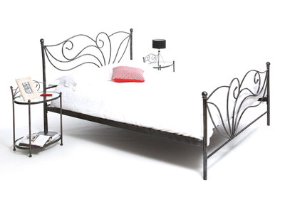 Bett im Barockstil 160x200 VENEZIA Schwarz