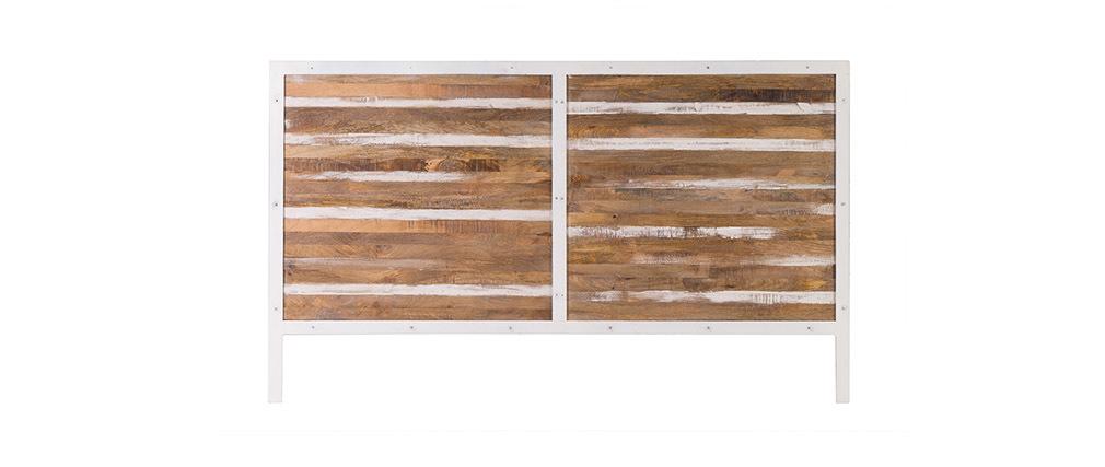 bett-kopfteil holz metall weiß 170 x 100 cm rochelle - miliboo, Hause deko