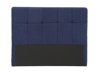 Bettkopfteil, dunkelblauer Stoff, 160 cm CLOVIS
