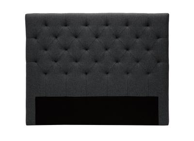 Bettkopfteil, dunkelgrauer Stoff, 140 cm ENGUERRAND