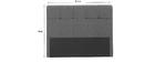 Bettkopfteil, dunkelgrauer Stoff, 160 cm CLOVIS