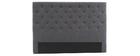 Bettkopfteil, dunkelgrauer Stoff, 160 cm ENGUERRAND
