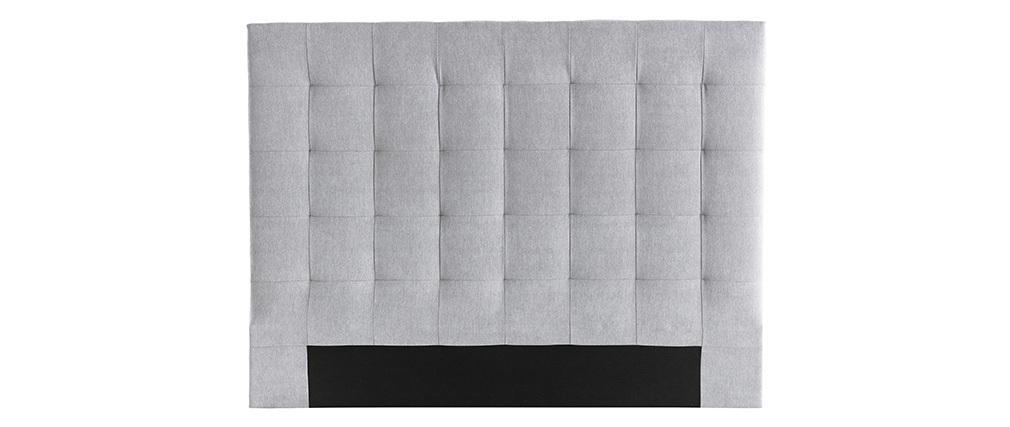Bettkopfteil gepolstert grauer Stoff 140 cm HALCION