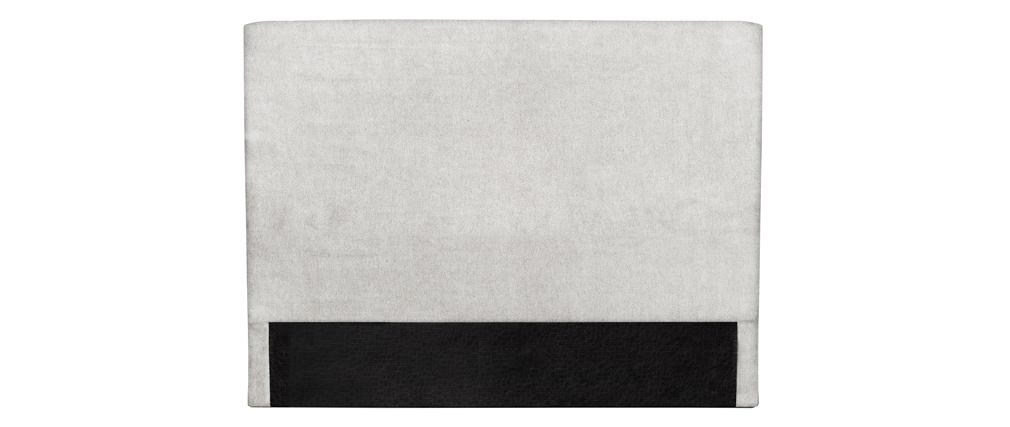 Bettkopfteil hellgrau 140 cm ZORYA