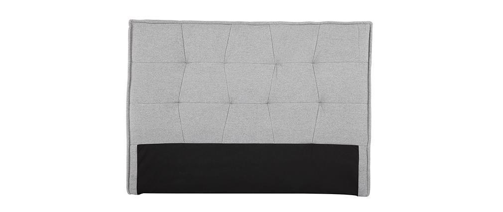 Bettkopfteil hellgrauer Stoff 150 cm SUKA