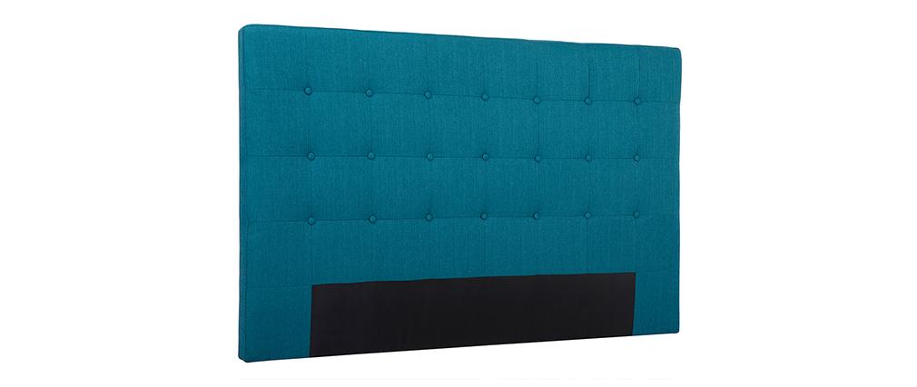 Bettkopfteil mit blaugrünem Stoff, 170 cm LUTECE