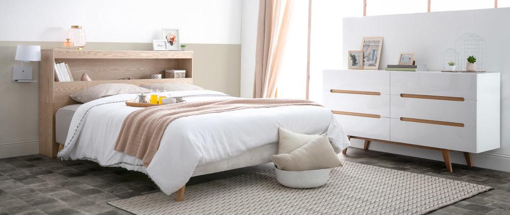 Bettkopfteil mit Staufläche Weiß 160 cm HYPNOS