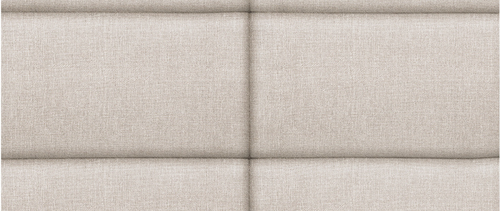 Bettkopfteil modern aus beige-naturfarbenem Stoff 160 cm ANATOLE