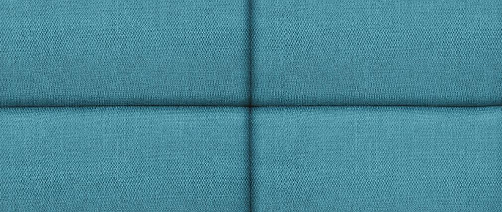 Bettkopfteil, modern, aus blaugrünem Stoff, 140 cm ANATOLE