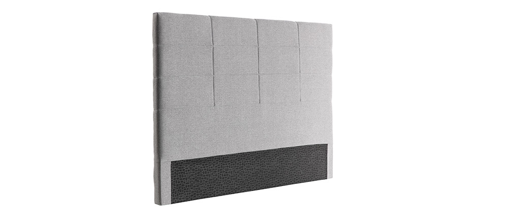 Bettkopfteil modern grauer Stoff 160 cm ANATOLE