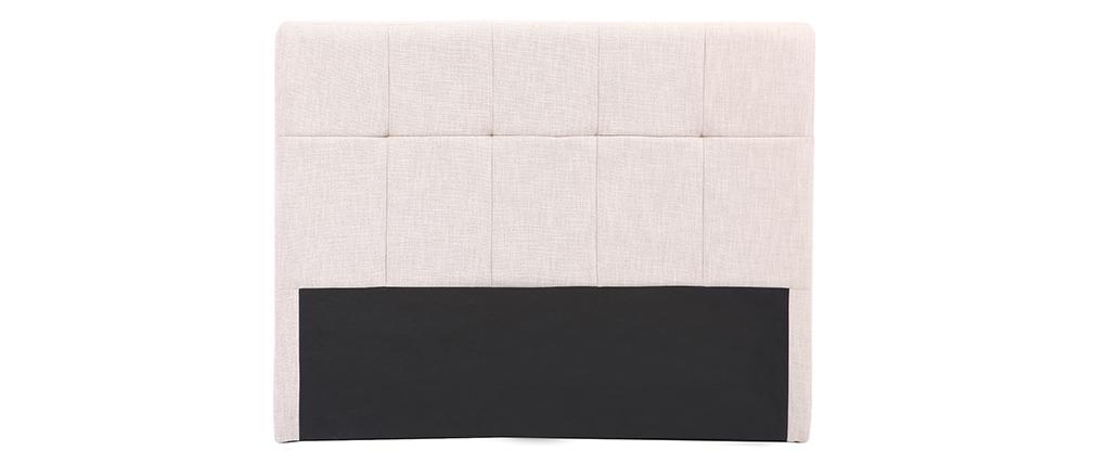 Bettkopfteil, naturfarbener Stoff, 160 cm CLOVIS