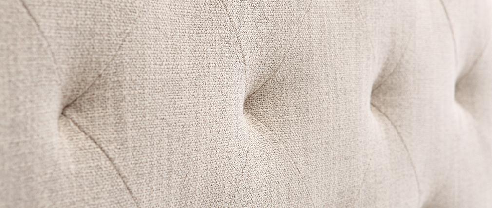 Bettkopfteil, naturfarbener Stoff, 160 cm ENGUERRAND
