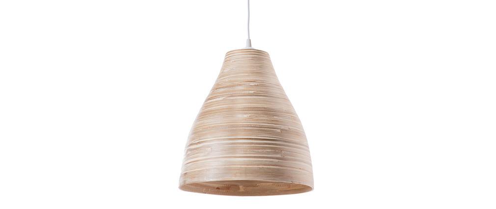 Bohème-Hängeleuchte SELVA aus Bambus, Ø 40 cm