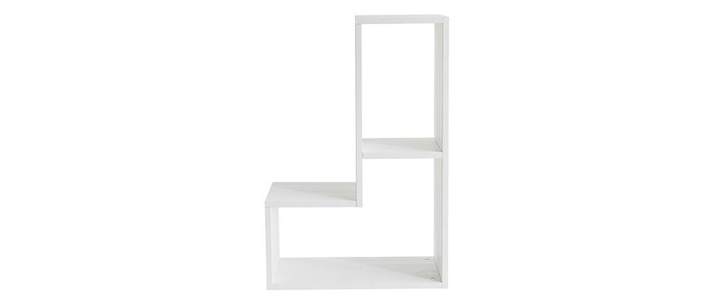 Bücherregal aus Kiefernholz Weiß DETTO