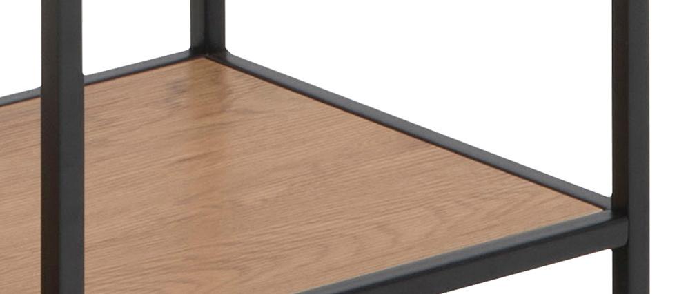Bücherregal im Industrial Style Holz und schwarzes Metall TRESCA