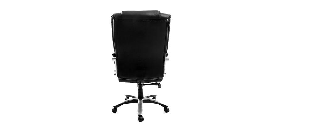Bürosessel aus schwarzem Leder XL TITUS - Rindsleder