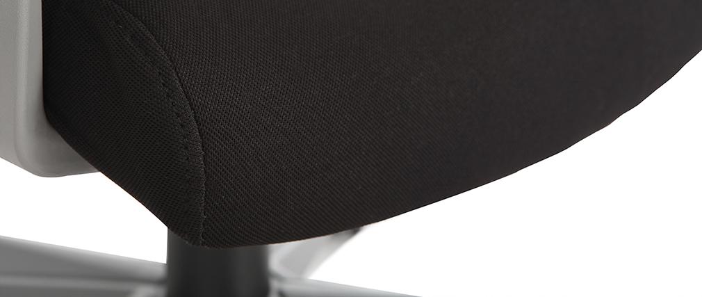 Bürosessel Drehsessel Schwarz Grau POCUS