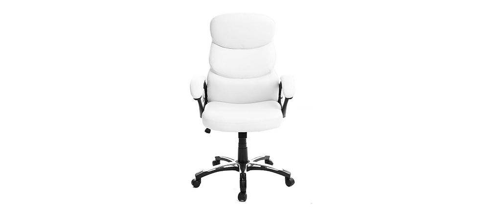 Bürosessel weiß  Bürosessel GALLIEN Weiß, zusammenklappbar - Miliboo