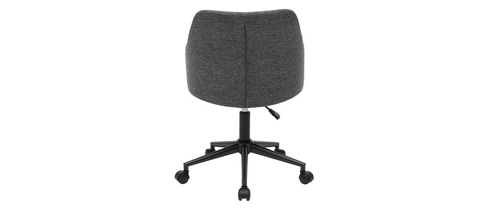 Bürosessel modern grauer Stoff HEMMY