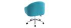 Bürosessel Velours Blaugrün SHARON