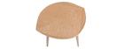 Couchtisch aus Holz in Form eines Blattes L60 cm PHYLL