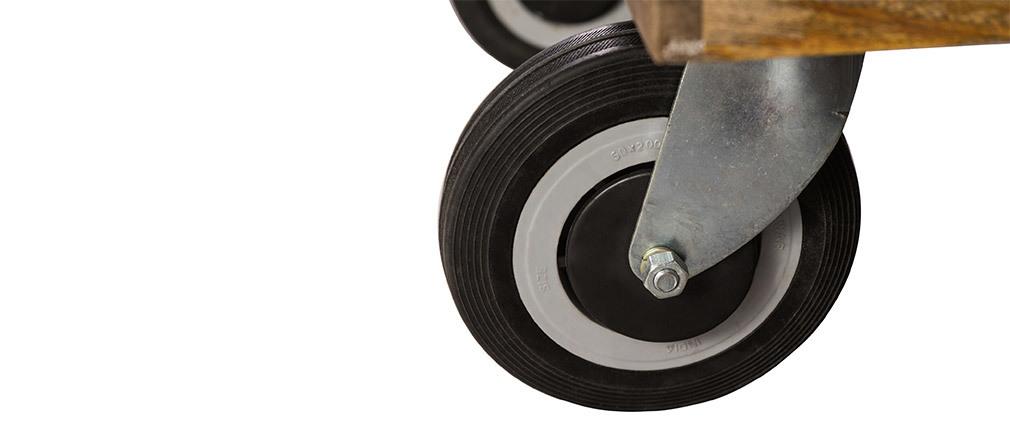 Couchtisch im Industrie-Design Viereckig mit Rollen 80 x 80 cm ATELIER
