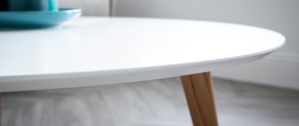 Couchtisch rund Weiß L100 cm EKKA