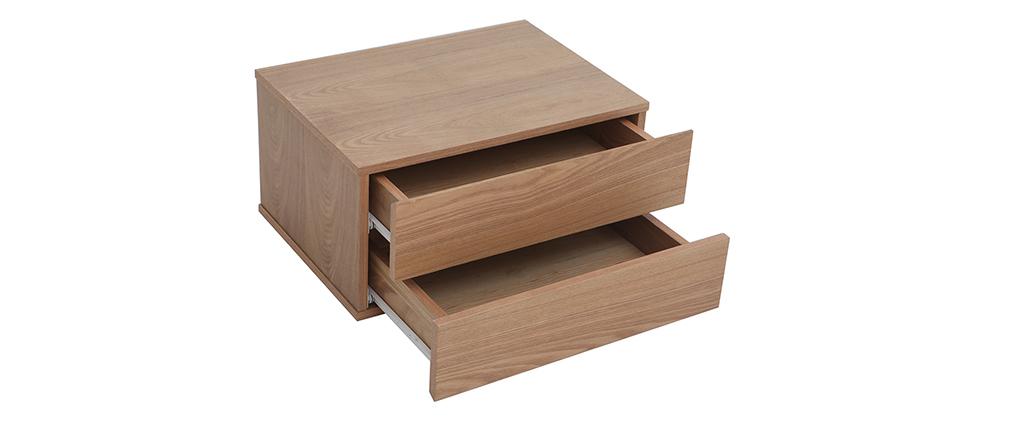 Design-Ablagekasten Holz 2 Schubladen MAX