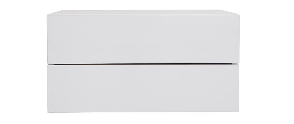 Design-Ablagekasten Weiß 2 Schubladen MAX