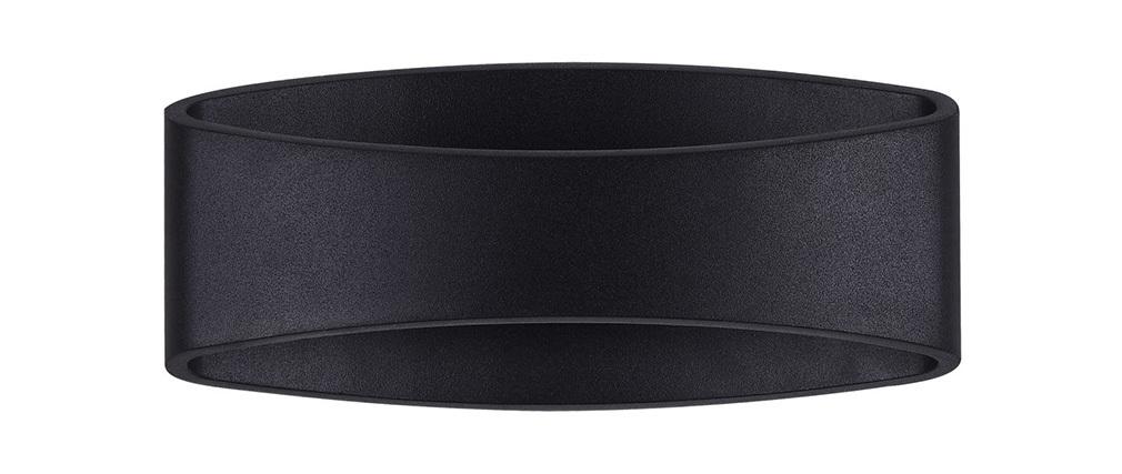 Design-Außenleuchte oval aus schwarzem Metall MODE