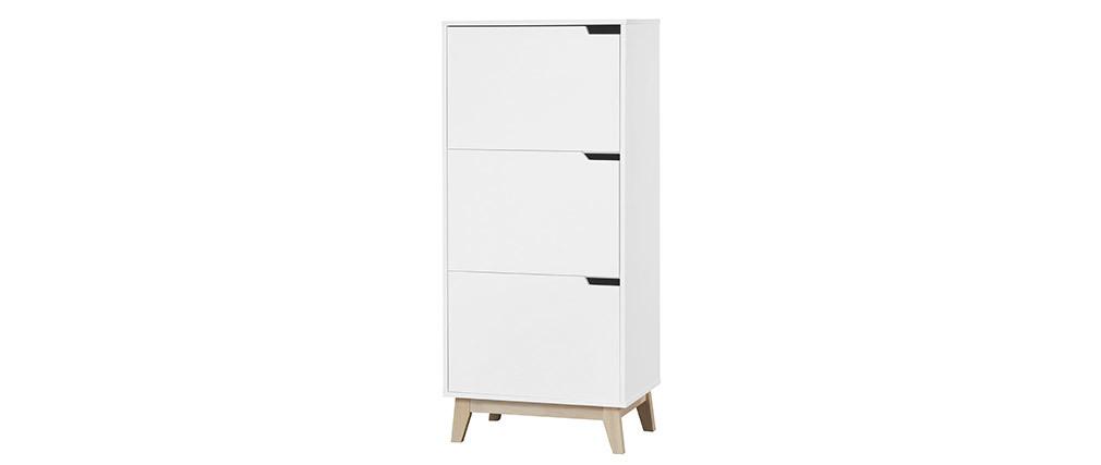 Design-Aufbewahrungsmöbel Weiß 3 Türen LEENA