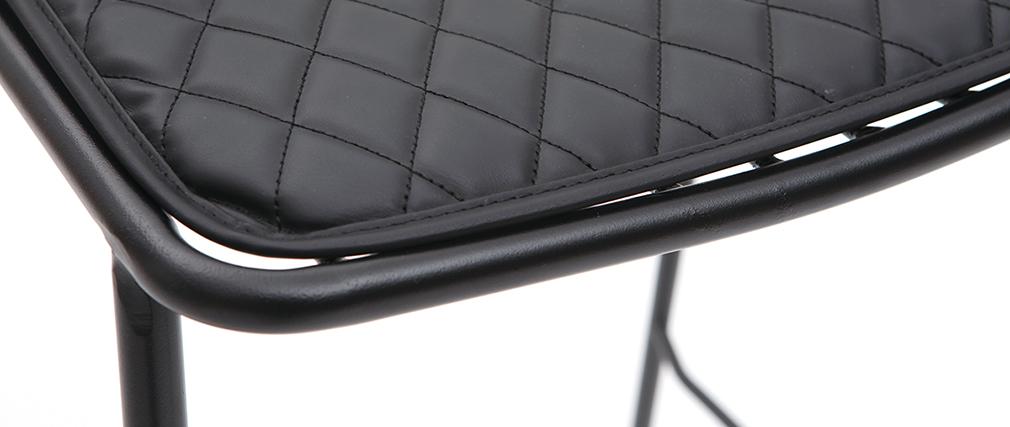 Design-Barhocker aus Metall Schwarz mit Kissen 75 cm (2er-Set) FEELING