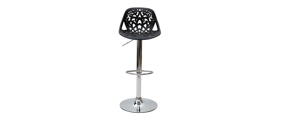 Design-Barhocker Barockstil BAROCCA Schwarz