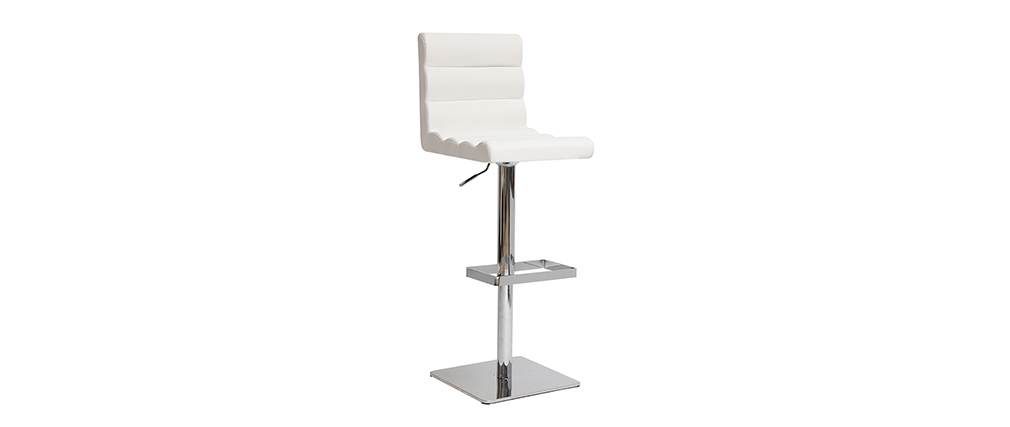 Design-Barhocker COLUMBUS Weiß