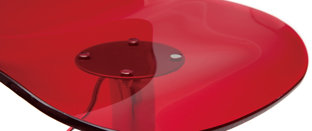 Design-Barhocker GALILEO Rot transparent