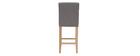 Design-Barhocker gepolstert Hellgrau und Holz 65 cm 2er-Set ESTER