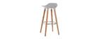 Design-Barhocker Grau skandinavisch 2er-Set GILDA
