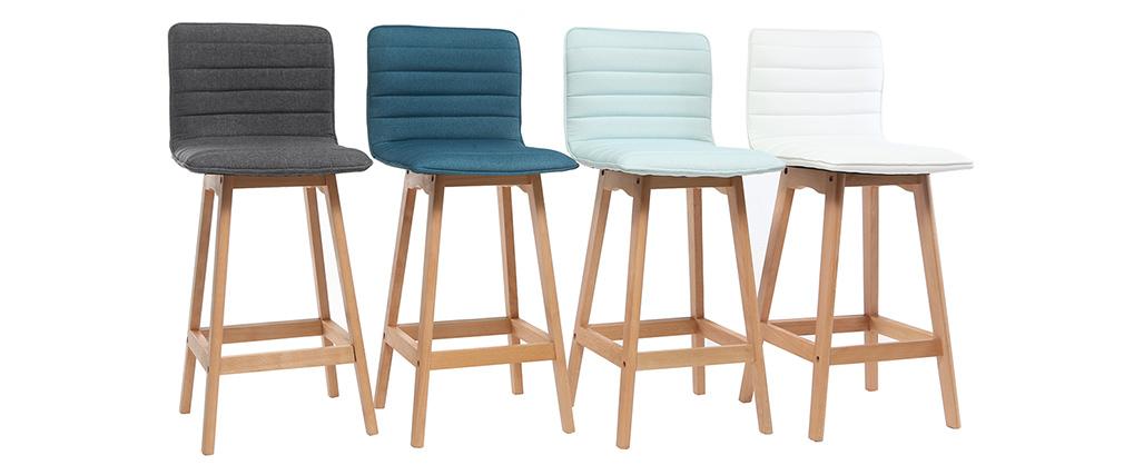 Design-Barhocker Holz und Blaugrün 65 cm 2 Stck. EMMA