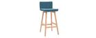 Design-Barhocker Holz und Blaugrün 65 cm 2 Stck. JOAN
