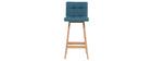 Design-Barhocker Holz und Blaugrün 65 cm 2 Stck. KLARIS