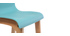 Design-Barhocker Holz und Blaugrün 75 cm 2 Stck. NEW SURF