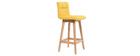 Design-Barhocker Holz und Gelb 65 cm 2 Stck. KLARIS