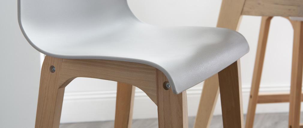 Design-Barhocker Holz und Hellgrau 65 cm 2 Stck. NEW SURF