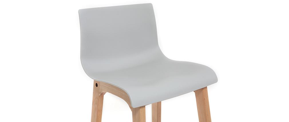 Design-Barhocker Holz und Hellgrau 75 cm 2 Stck. NEW SURF