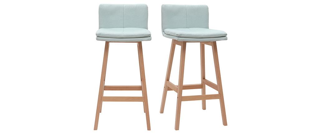 Design-Barhocker Holz und Minzgrün 65 cm 2 Stck. JOAN