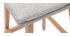Design-Barhocker Holz und Perlgrau 65 cm 2 Stck. JOAN