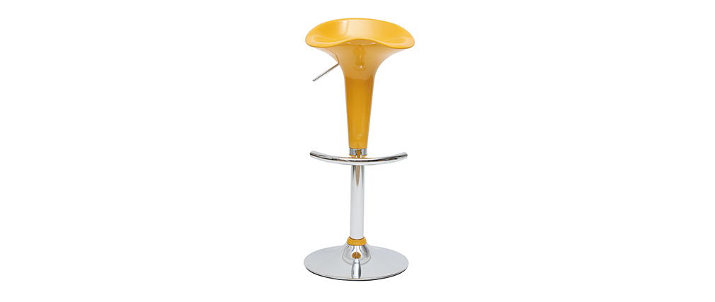 Design-Barhocker / Küchenhocker Gelb GALAXY (2 Stck.)