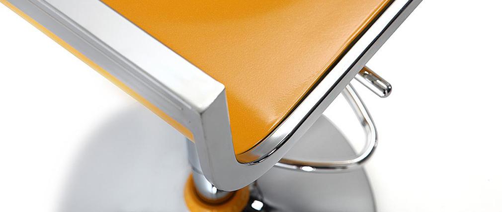 Design-Barhocker / Küchenhocker WAVES Gelb (2 Stck.)